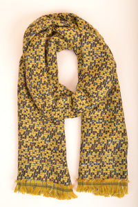 Yellow Fringe Scarf