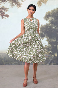 Meadow Green Floral Dress
