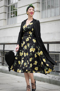 Viola Yellow Floral Dress