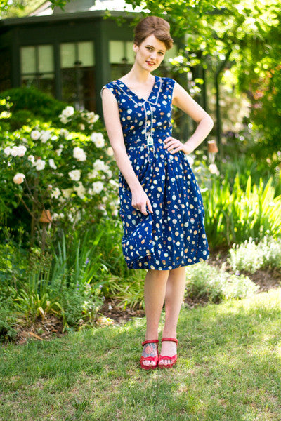 Sheila Navy Dress Elise Design $169.00 Dresses