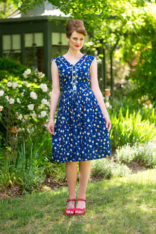 Sheila Navy Dress - Elise Design  - 1