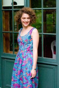 Patti Purple Tropical Dress