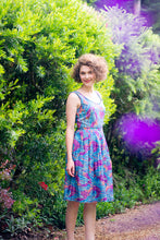 Load image into Gallery viewer, Patti Purple Tropical Dress