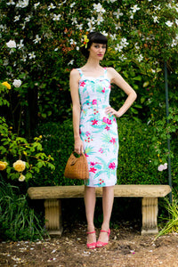 Jules Red & Cream Tikki Dress - Elise Design