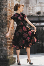Load image into Gallery viewer, Valentina Velvet Floral Dress