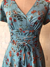 Load image into Gallery viewer, Fiorella Turquoise Corset Dress