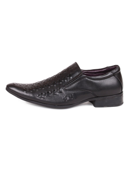 Men's Leather Formal Casual Pattern Slip On Shoes Fashionable Toe | Jacksin Shoes