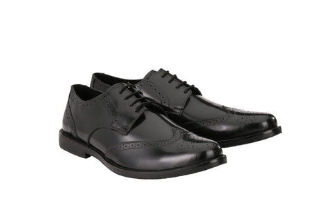 Men's Formal Oxford Wingtip Black Leather Brogues | Jacksin Shoes