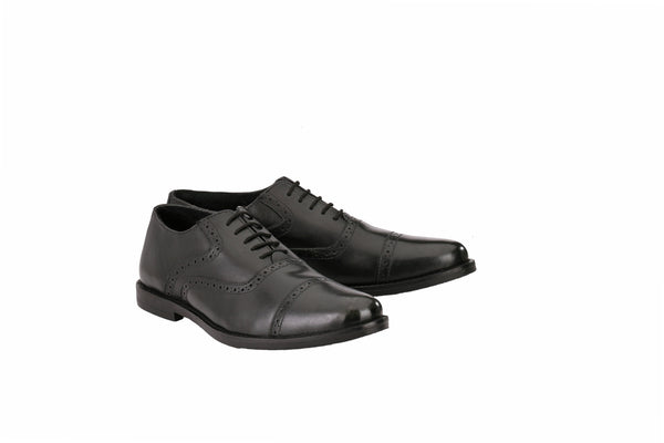 Men's Formal Black Cap Toe | Jacksin Shoes
