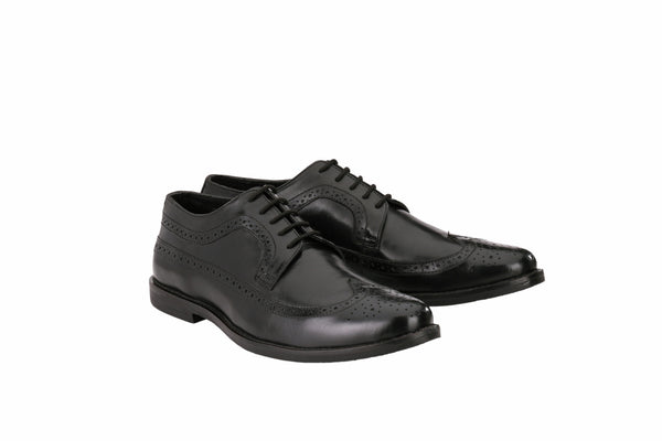 Men's Classic Formal Black Full Brogue | Jacksin Shoes