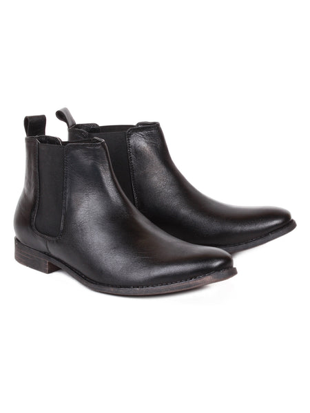 Men's Leather Formal Chelsea Ankle Boots | Jacksin Boots