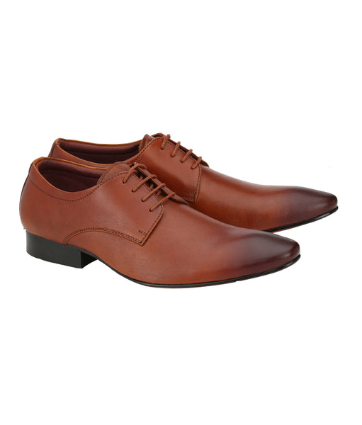 Men's Classic Tan Leather Derby Shoes | Jacksin Shoes