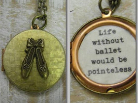 Ballet Locket Necklace Life would be Pointeless Locket gift for her dancer ballerina ballet teacher Recital Gift