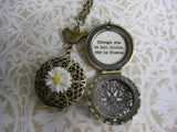 Shakespeare Quote Locket Necklace A Midsummer Night's Dream Though she be but little, she is fierce necklace daughter or friend