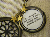Locket Necklace Quote My thoughts are stars I can't fathom into constellations fault in our stars inspired tween gift teen gift brass locket