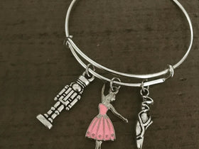 The Nutcracker bracelet ballet bangle for child recital gift