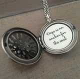 Silver Locket Hope is an anchor for the soul necklace scripture quote jewelry