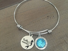 Really a Mermaid Bracelet, Mermaid bangle, Charm bracelet