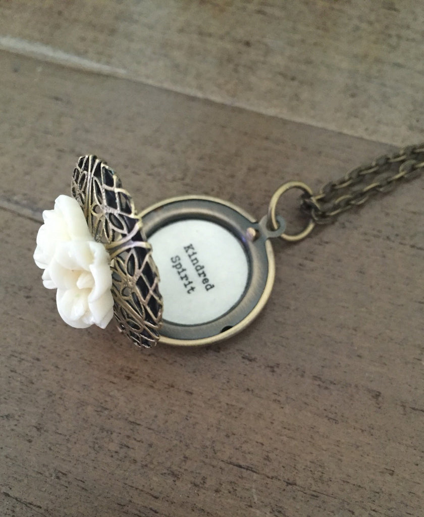 Kindred Spirit Necklace, Locket, Best Friend Gift
