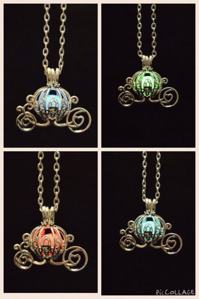 Cinderella Pumpkin Carriage Glow in the Dark necklace - Beach'n Designs