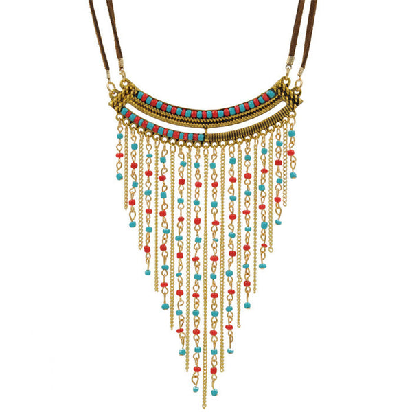 Bohemian beaded necklace - Beach'n Designs