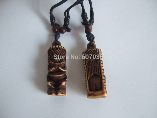 Tribal Tiki Man Pendant Necklaces - Beach'n Designs - 1