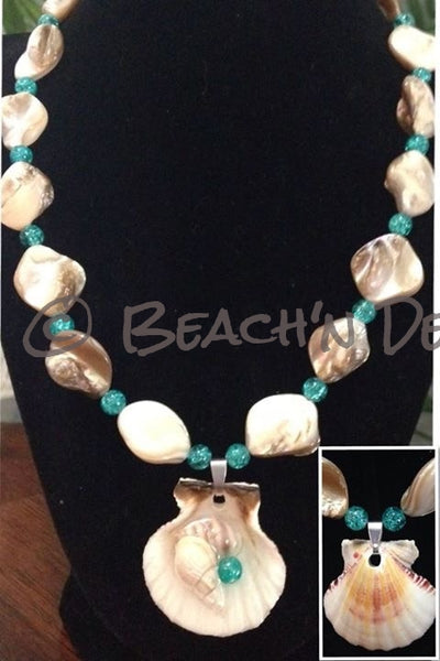 Reversible Seashell Necklace Set - Beach'n Designs