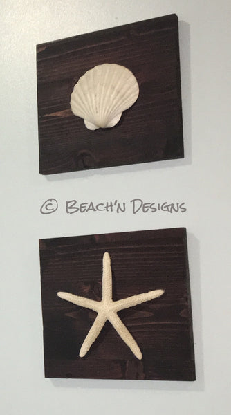 Seashell and starfish wall decor (set of 2) - Beach'n Designs - 4