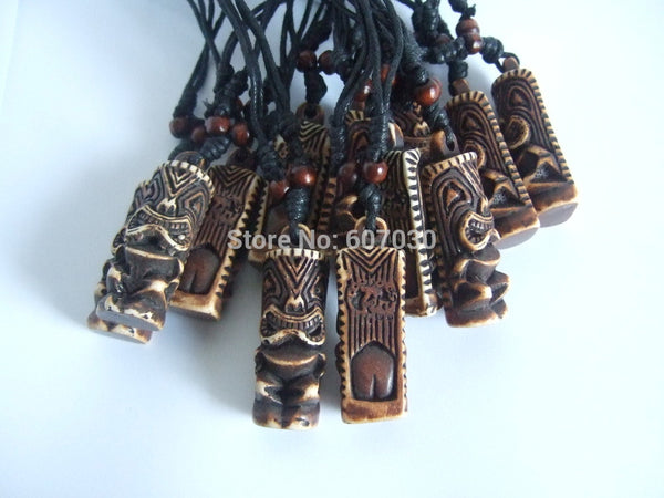 Tribal Tiki Man Pendant Necklaces - Beach'n Designs