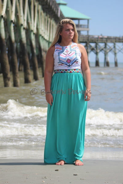 Summer Aztec Maxi Dress Maxi - Beach'n Designs - 1