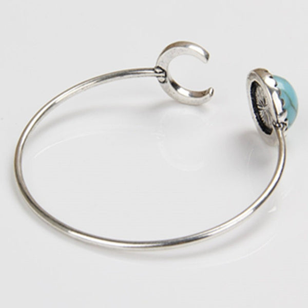 Crescent Moon Turquoise Bangle - Beach'n Designs