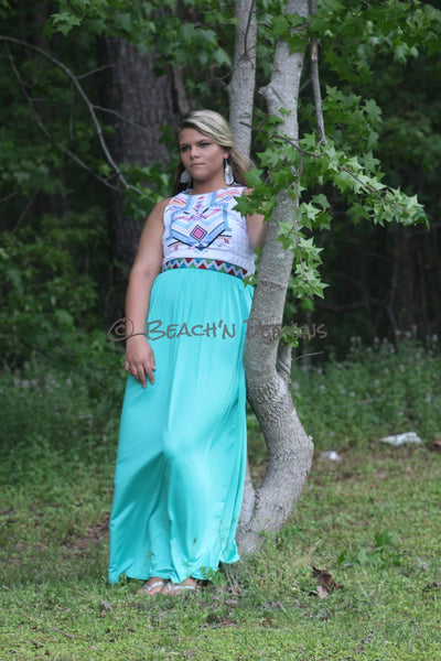 Summer Aztec Maxi Dress Maxi - Beach'n Designs - 5