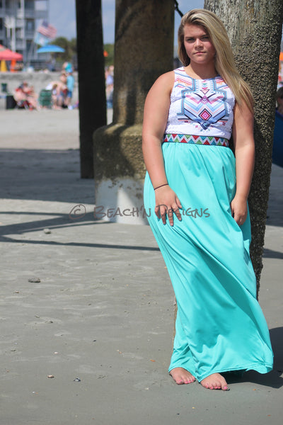 Summer Aztec Maxi Dress Maxi - Beach'n Designs - 2