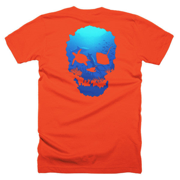 Short sleeve skull ocean men's t-shirt (Back) - Beach'n Designs - 29