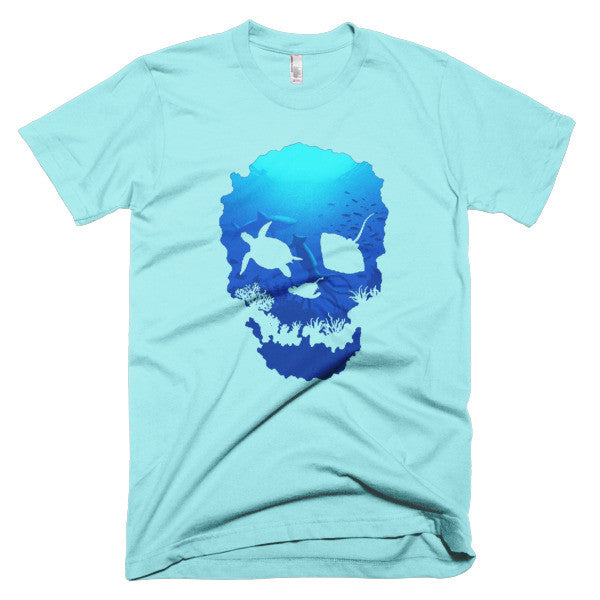 Short sleeve skull ocean men's t-shirt - Beach'n Designs - 11