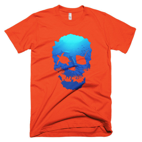 Short sleeve skull ocean men's t-shirt - Beach'n Designs - 16