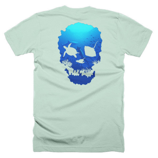 Short sleeve skull ocean men's t-shirt (Back) - Beach'n Designs - 14