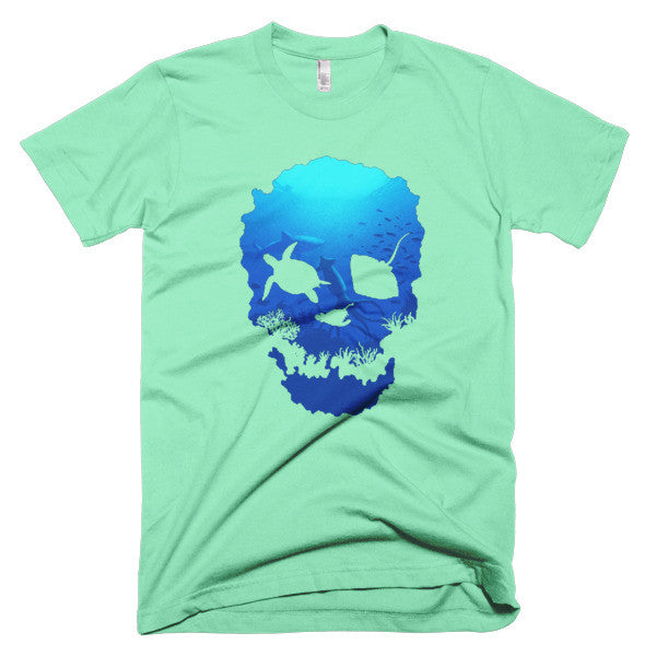 Short sleeve skull ocean men's t-shirt - Beach'n Designs - 9