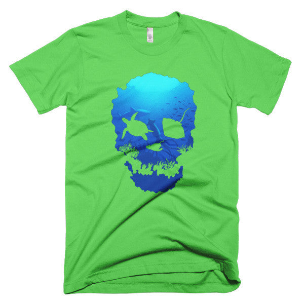 Short sleeve skull ocean men's t-shirt - Beach'n Designs - 7