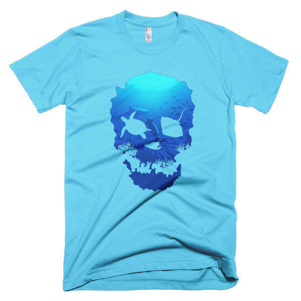 Short sleeve skull ocean men's t-shirt - Beach'n Designs - 13