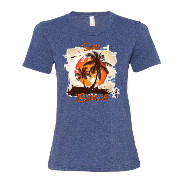 Sexy Beach Women's short sleeve t-shirt - Beach'n Designs