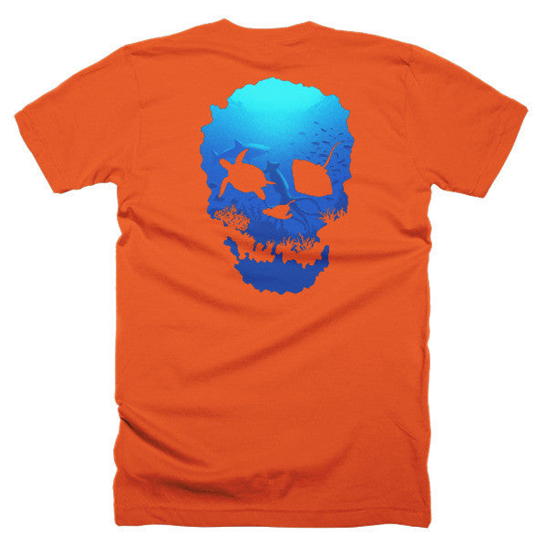 Short sleeve skull ocean men's t-shirt (Back) - Beach'n Designs - 27