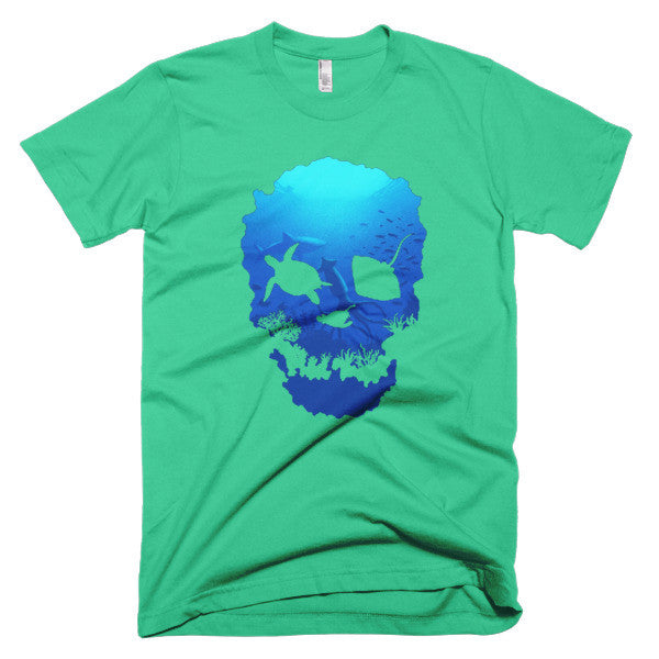Short sleeve skull ocean men's t-shirt - Beach'n Designs - 10