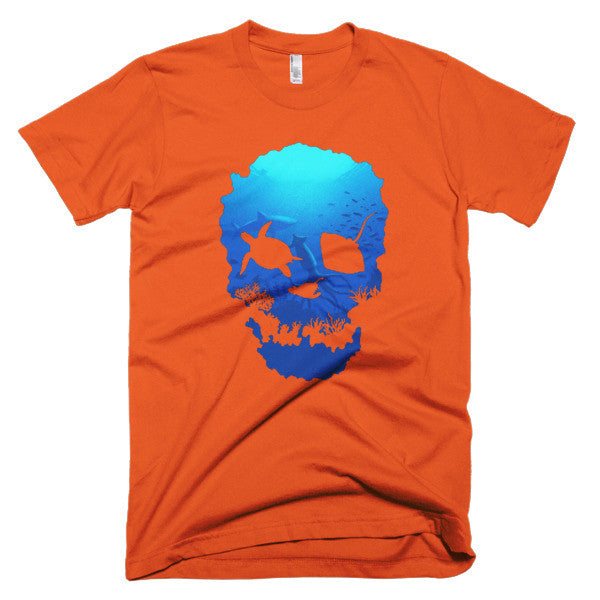 Short sleeve skull ocean men's t-shirt - Beach'n Designs - 15