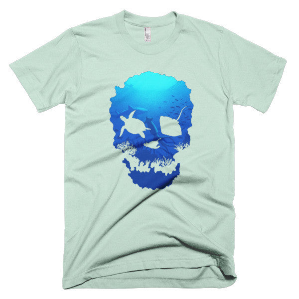 Short sleeve skull ocean men's t-shirt - Beach'n Designs - 8