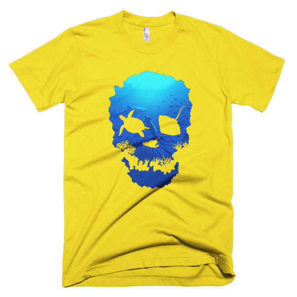 Short sleeve skull ocean men's t-shirt - Beach'n Designs - 14