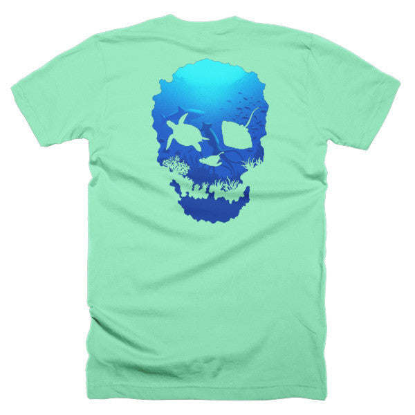 Short sleeve skull ocean men's t-shirt (Back) - Beach'n Designs - 15