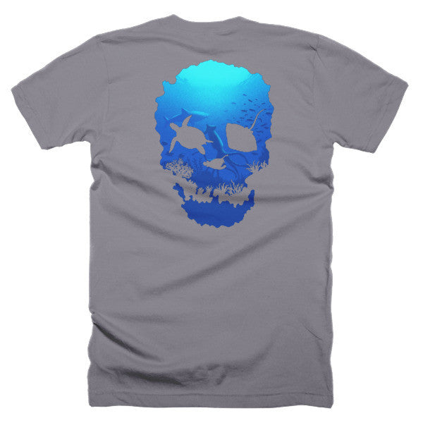 Short sleeve skull ocean men's t-shirt (Back) - Beach'n Designs - 7