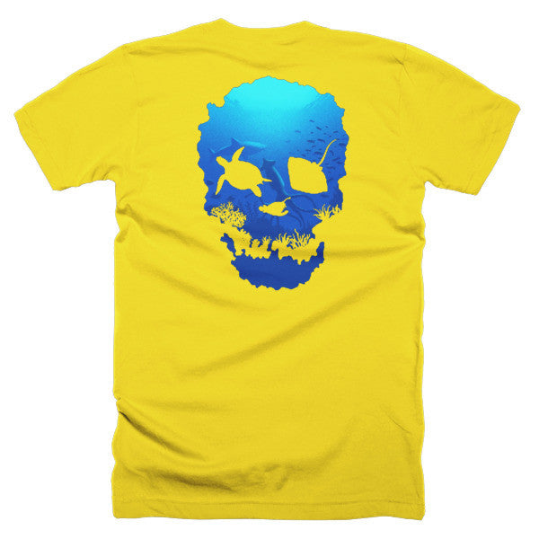 Short sleeve skull ocean men's t-shirt (Back) - Beach'n Designs - 25