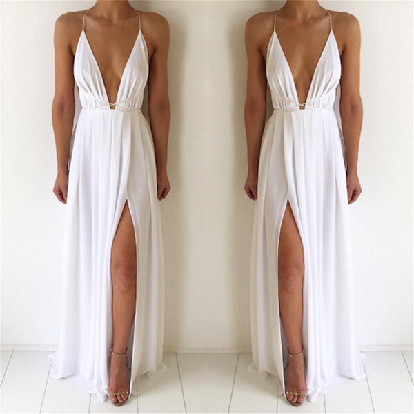 High Split spaghetti strap Maxi Dress - Beach'n Designs